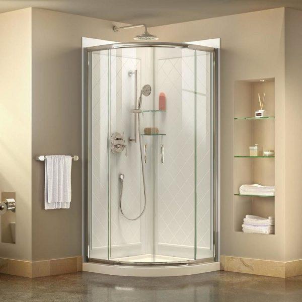 Phòng tắm kính cạnh vát